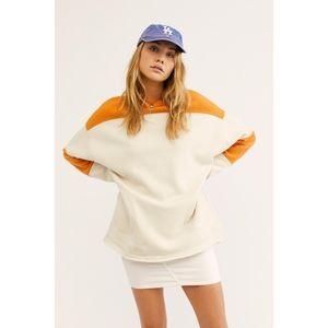 Free People | Jordan Colorblock Pullover in Ivory
